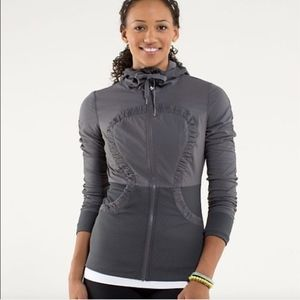Lulu Lemon Gray Reversible Dance Studio Jacket
